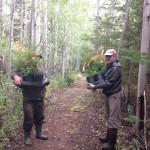 Lennie and Rannie plantinf trees