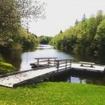 Floating dock at Mooney's Pond